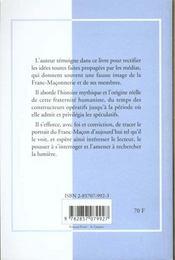 Etre franc-macon - 4ème de couverture - Format classique