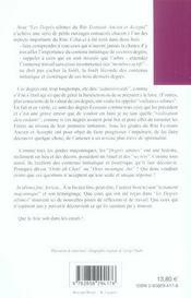 Degres Ultimes (Les) - 4ème de couverture - Format classique