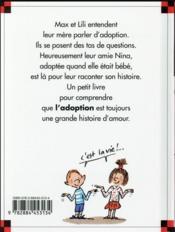 Nina a été adoptée - 4ème de couverture - Format classique