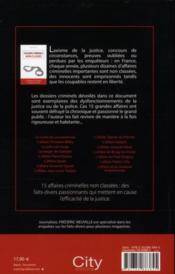 Dossiers criminels non classés ; 15 affaires qui mettent la justice en échec - 4ème de couverture - Format classique