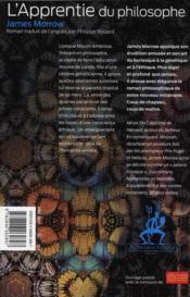 L'apprenti du philosophe - 4ème de couverture - Format classique