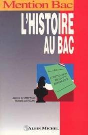 L'Histoire Au Bac - Couverture - Format classique