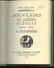 Souvenirs Du Jardin Detruit - Roman Inedit. - Couverture - Format classique