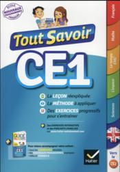 Tout savoir ; CE1 - Couverture - Format classique