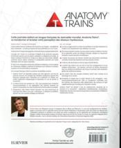 Anatomy trains ; les méridiens myofasciaux en thérapie manuelle - 4ème de couverture - Format classique