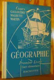 Premier Livre De Ge¿ographie - Cours E¿le¿mentaire - Couverture - Format classique