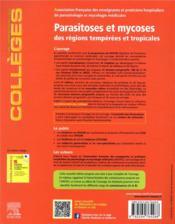 Parasitoses et mycoses ; des régions tempérées et tropicales ; réussir les ECNi - 4ème de couverture - Format classique