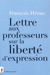 Lettre aux professeurs sur la liberté d'expression - Couverture - Format classique