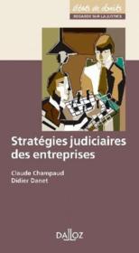 Stratégies judiciaires des entreprises - Couverture - Format classique