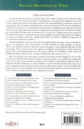La propriété dans le code civil de la fédération de russie ; un système entre 2 traditions - 4ème de couverture - Format classique