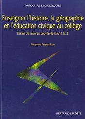 Enseigner L'Hist.Geo & L'Educ.Civique - Intérieur - Format classique