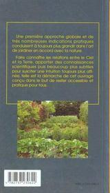 Jardiner avec la lune - 4ème de couverture - Format classique