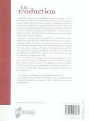 La traduction de la theorie a la pratique et retour - 4ème de couverture - Format classique
