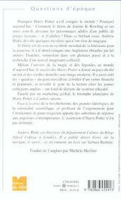 L'irresistible ascension de harry potter - 4ème de couverture - Format classique