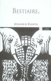 Bestiaire - Couverture - Format classique