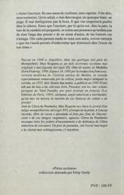 La Cerca De Pendaries - 4ème de couverture - Format classique