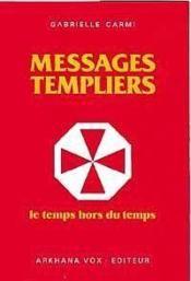 Message des templiers - Couverture - Format classique