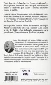 Sauvageonne - 4ème de couverture - Format classique