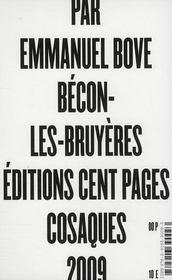 Bécon-les-Bruyères - 4ème de couverture - Format classique