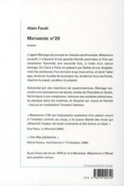 Matamore n°29 - 4ème de couverture - Format classique