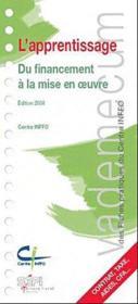 Vademecum ; L'Apprentissage ; Du Financement A La Mise En Oeuvre (Edition 2009) - Couverture - Format classique