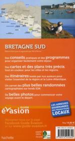 GUIDE EVASION EN FRANCE ; Bretagne sud - 4ème de couverture - Format classique