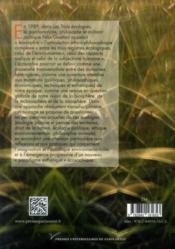 Théories et pratiques écologiques ; de l'écologie urbaine à l'imagination environnementale... - 4ème de couverture - Format classique