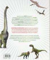 Incroyables dinosaures - 4ème de couverture - Format classique