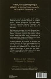 Franck Michael ; la chanson au coeur - 4ème de couverture - Format classique