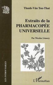 Extraits de la pharmacopée universelle - Intérieur - Format classique