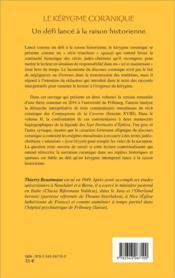 Le kérygme coranique ; un défi lancé à la raison historique t.1 - 4ème de couverture - Format classique