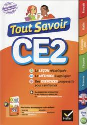Tout savoir ; CE2 - Couverture - Format classique