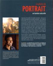 La photo de portrait en lumière naturelle par Scott Kelby - 4ème de couverture - Format classique