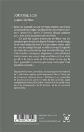 Journal 2020 - 4ème de couverture - Format classique