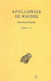 Argonautiques t.1 ; chants I-II - Couverture - Format classique