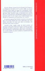 Droits Du Contribuable - 4ème de couverture - Format classique
