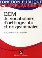 Qcm de vocabulaire, d'orthographe et de grammaire - Intérieur - Format classique