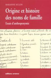 Origine Et Histoire Des Noms De Famille - Couverture - Format classique