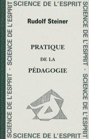 Pratique de la pédagogie - Couverture - Format classique