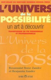 L'univers de la possibilite - un art a decouvrir transformer sa vie personnelle et professionnelle - Intérieur - Format classique