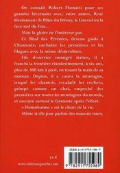 Flemattissime ; des pyrénées aux alpes - 4ème de couverture - Format classique