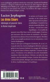 Les divins cesars - 4ème de couverture - Format classique