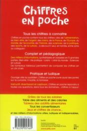 Chiffres en poche - 4ème de couverture - Format classique