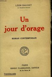 Un Jour D'Orage. - Couverture - Format classique