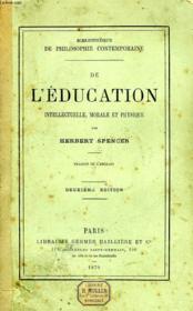 De L'Education Intellectuelle, Morale Et Physique - Couverture - Format classique