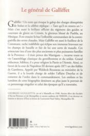 Le général de Gallifet ; un sabreur dans les coulisses du pouvoir (1831 1909) - 4ème de couverture - Format classique