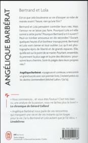 Bertrand et Lola - 4ème de couverture - Format classique