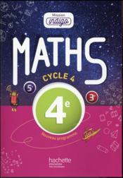 Mathématiques ; cycle 4 / 4ème ; livre de l'élève (édition 2016) - Couverture - Format classique