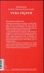 Mémoires d'une révolutionnaire - 4ème de couverture - Format classique
