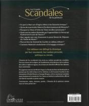 Les grands scandales de la peinture - 4ème de couverture - Format classique